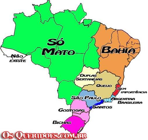 """Mapa do Brasil segundo os """"brasileiros""""..."""